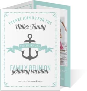 Oceanside Nautical Family Reunion Invitation