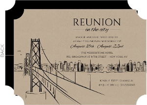Kraft Family Reunion In The City Invitation