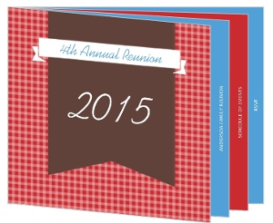 Red And Blue Gingham Family Reunion Booklet