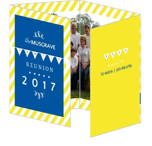Modern Blue and Yellow Family Reunion Invitation