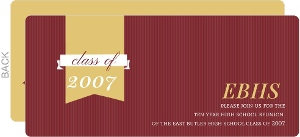 Maroon Gold and White Class Reunion Invitation