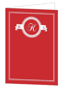 Red and White Classic Class Reunion Invitation
