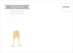 Shine Bright Gold And Gray Set Custome Envelope