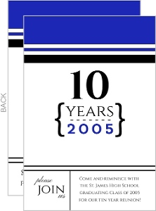 10 Year School Reunion Invitation