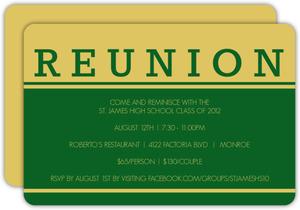 Bold Class Reunion Invite