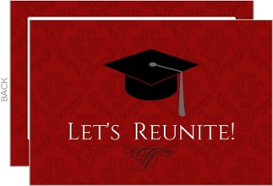 Graduation Cap Let s Reunite Class Reunion Invitation