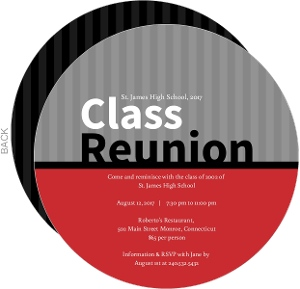Red and Black School Colors Class Reunion Invitation