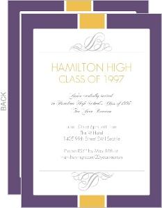 Formal Class Reunion Invitation
