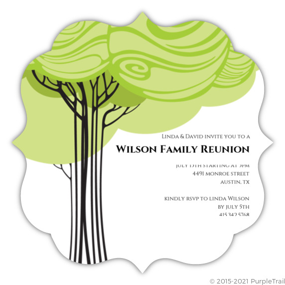 Swirly Family Tree Reunion Invitation – Family Reunion Invitation