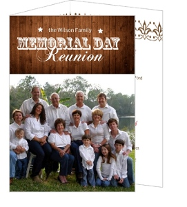 Rustic Memorial Day Family Reunion Invitation