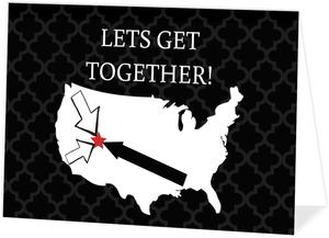 Lets Get Together Travel Reunion Invitation