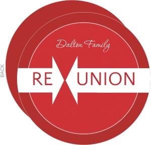 Red Linen Family Reunion Invitation