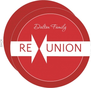 Red Linen Family Reunion Invitation