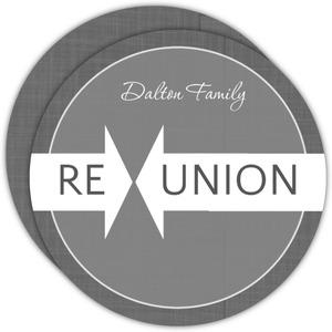 Gray Linen Family Reunion Invitation