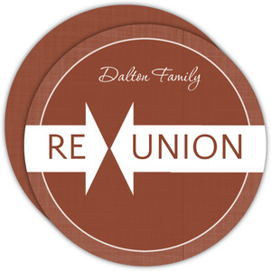 Brown Linen Family Reunion Invitation