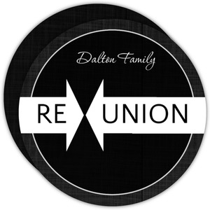 Black Linen Family Reunion Invitation