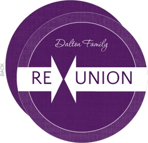 Purple Linen Family Reunion Invitation