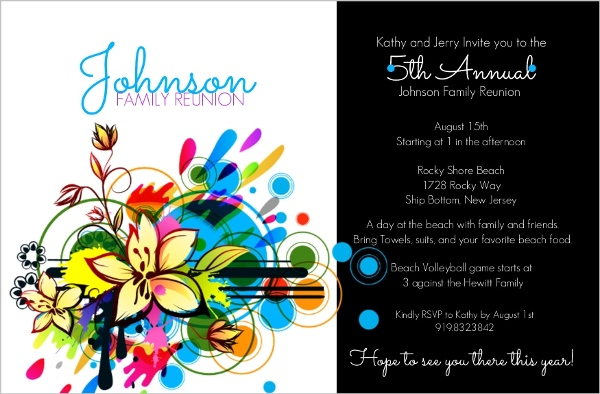 Bright And Bold Black Family Reunion Invitation – Invitations for Family Reunion