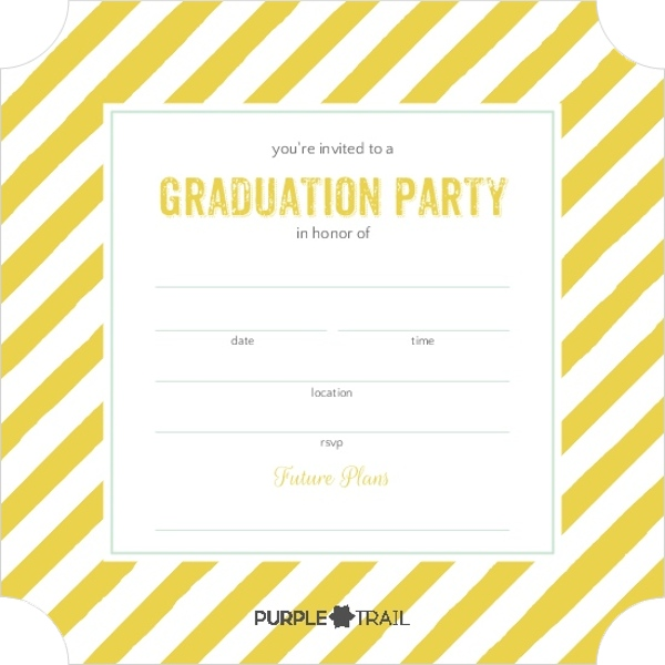 Mint And Yellow Party Lights Fill In The Blank Graduation