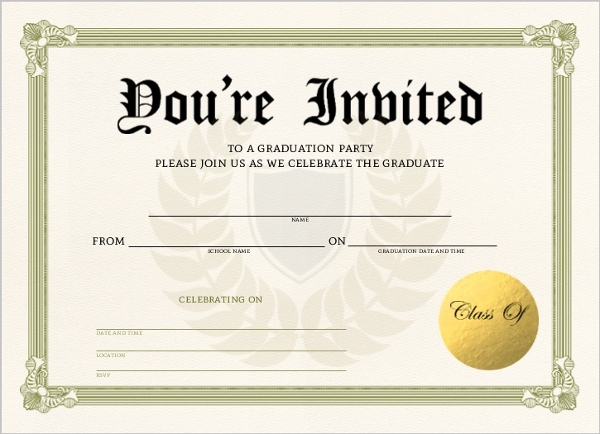 unique graduation diploma fill in the blank invitation blank invitations cards. Black Bedroom Furniture Sets. Home Design Ideas