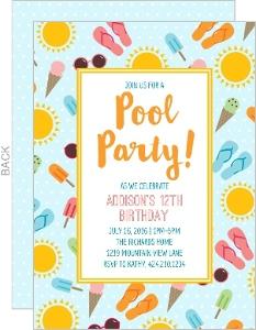 Summer Fun Birthday Party Invitation