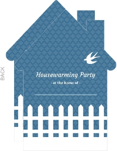 White Picket Fence Fill In The Blank Housewarming Party Invite