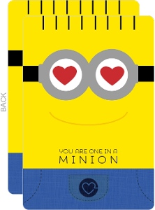 One In A Minion Valentine S Card