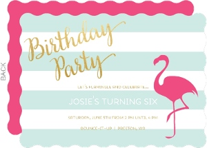 Flamingo Chic Birthday Party Invitation