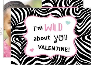 Zebra Heart Valentine S Day Card