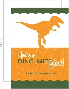 Dinosaur Crackle Valentines Card
