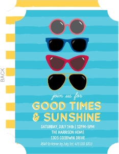 Good Times And Sunshine Summer Party Invitation
