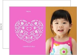 Stencil Pink Heart Valentine S Card