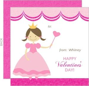 Pink Princess Valentine S Card