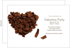 Chocolate Valentine Invite
