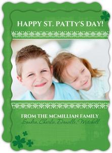 Green Clover Photo Card