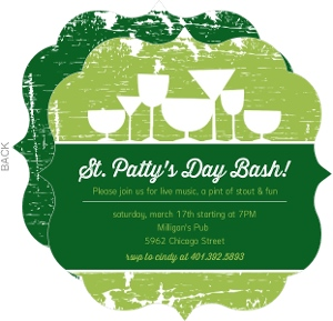 Grunge Drinks St Patrick S Day Invitation