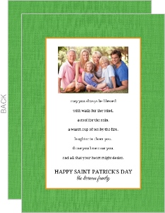 Green Irish Blessing St Patrick S Day Card
