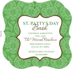 Celebrating St Patrick S Day Bash Invite