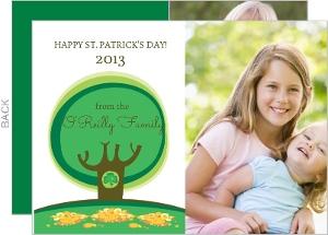 Shamrock Tree Photo St Patricks Day Card