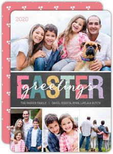 Whimsical Chalkboard Easter Card
