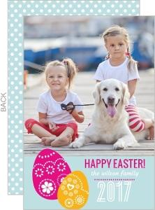 Embellished Easter Eggs Easter Card