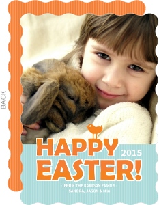 Orange And Blue Happy Easter Card