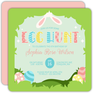 Elegant Floral Easter Party Invitation