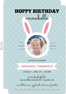 A Very Hoppy Birthday Easter Party Invitation