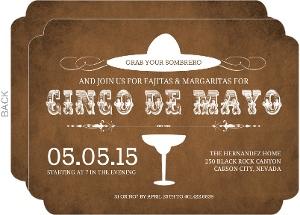 Western White And Brown Cinco De Mayo Invitation