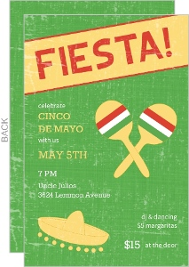 Green Sombrero Fiesta Invitation