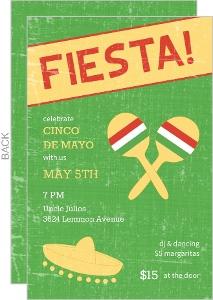 Green Sombrero Fiesta Invitation