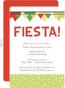 Fiesta Confetti And Flags Cinco De Mayo Invitation