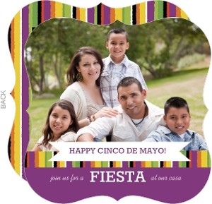 Banner And Stripes Cinco De Mayo Card