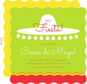 Mexican Sombrero Party Invite